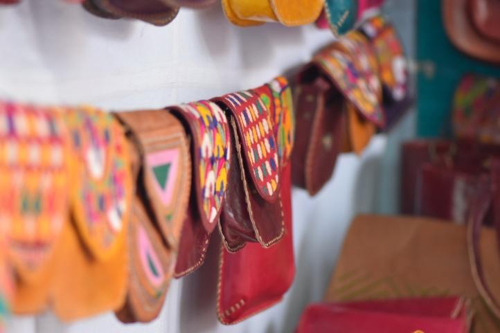 Jaipuri Leather Bags with Ari embroidery