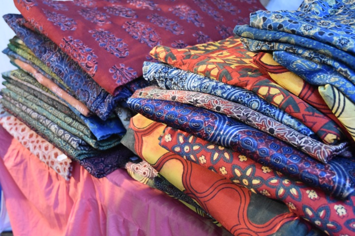 Ajrakh block-printed fabric