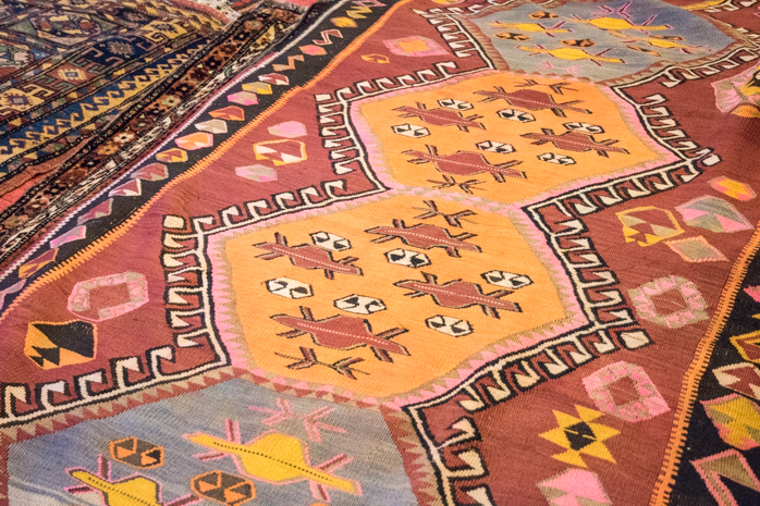 Keelam, a non-pile carpet. Danny refers to this as the UFO motifs!