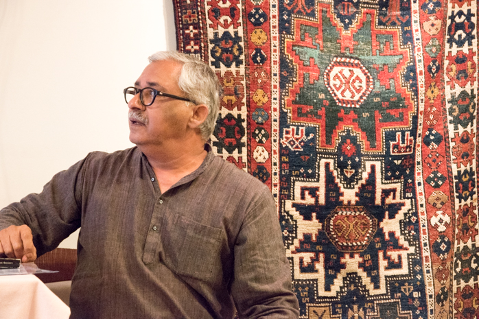 Danny Mehra delivers a talk on the Iconography found in Tribal Carpets