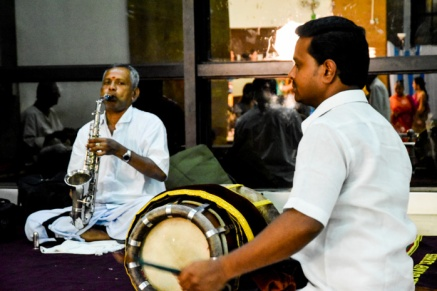 An ensemble of nadaswaram and thavil